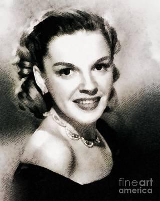 Judy Garland Painting - Judy Garland, Vintage Actress by John Springfield