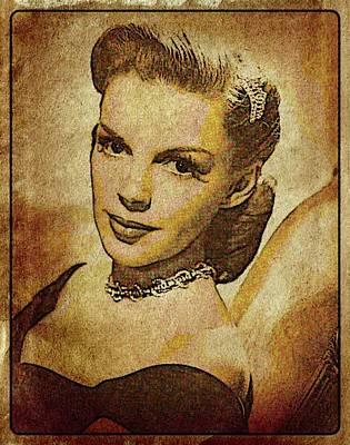 John Wayne Digital Art - Judy Garland Vintage Hollywood Actress by Esoterica Art Agency