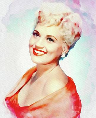 Music Paintings - Judy Holliday, Vintage Actress and Singer by Esoterica Art Agency