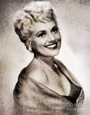 Judy Holliday, Vintage Actress By John Springfield Art Print by John Springfield