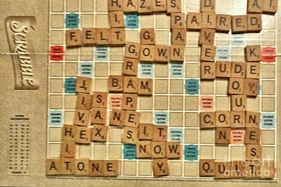 Photograph - Judy Wins Scrabble Again by Janette Boyd