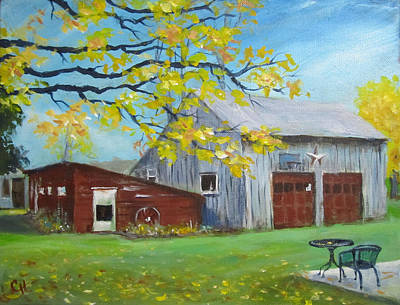 Painting - Judy's Barn by Carol Hart