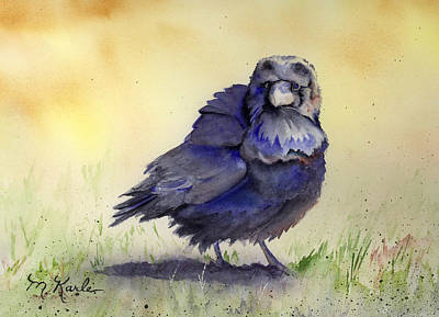 Painting - Judy's Raven by Marsha Karle