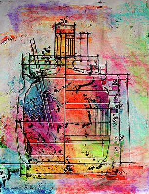 Mixed Media - Jug Drawing by Don Gradner