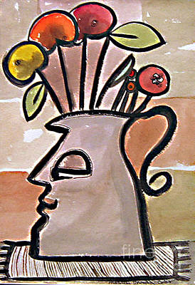 Painting - Jug Face by Marilyn Brooks