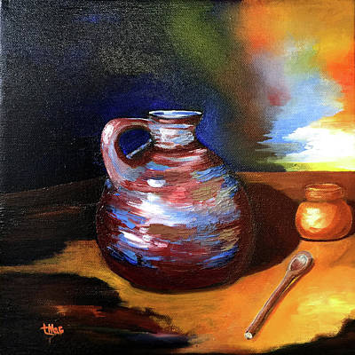 Painting - Jug Mug And Spoon by Terry R MacDonald