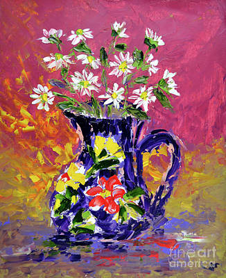 Painting - Jug Of Daisies by Lynda Cookson