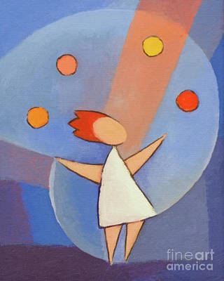 Painting - Juggler by Lutz Baar