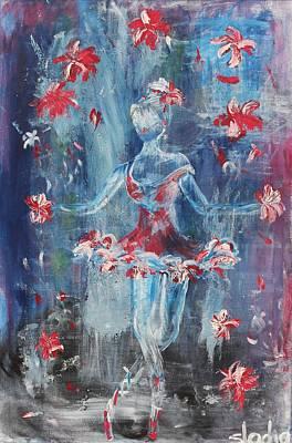 Art Print featuring the painting Juggler by Sladjana Lazarevic