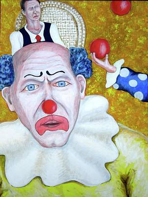 Jugglers And Clowns Art Print by Don Gentle
