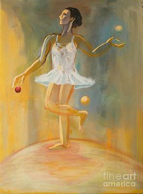 Painting - Juggling by Ushangi Kumelashvili