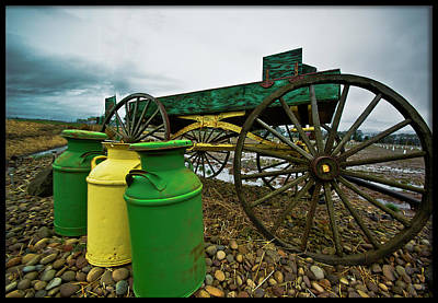 Photograph - Jugs And Wagon by Dale Stillman