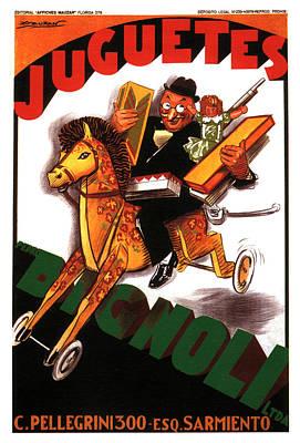 Mixed Media - Juguetes Bigholi - 1927 - Bazar - Vintage Advertising Poster by Studio Grafiikka