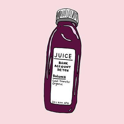 Digital Art - Juice Cleanse Bank Detox by Cortney Herron