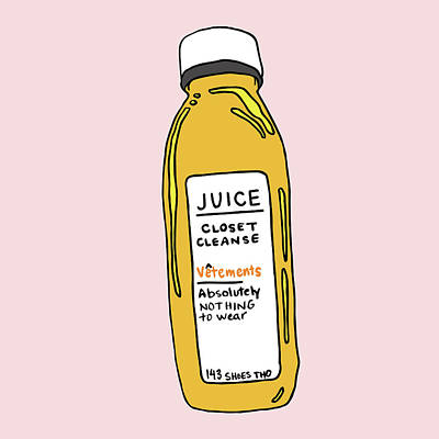 Digital Art - Juice Cleanse Closet by Cortney Herron