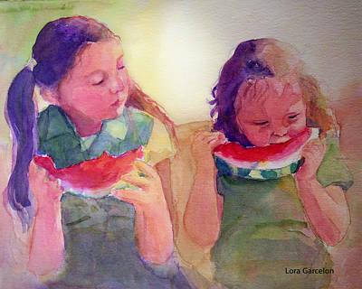 Juicy Art Print by Lora Garcelon
