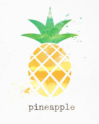 Juicy Pineapple Art Print by Linda Woods