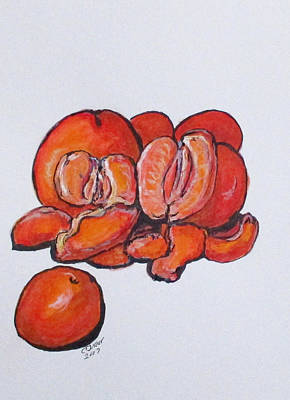 Painting - juicy Tangerines by Clyde J Kell