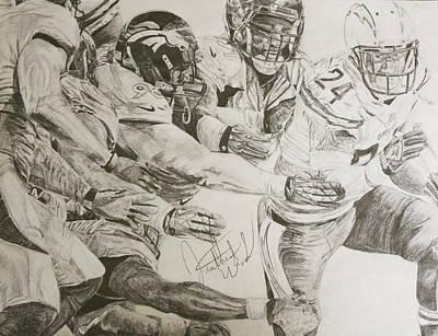 Philadelphia Eagles Drawings Drawing - Juke And Jive by Justin Wade
