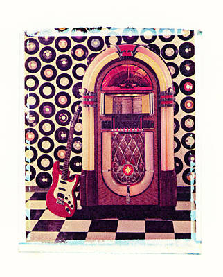 Juke Box Polaroid Transfer Print by Garry Gay