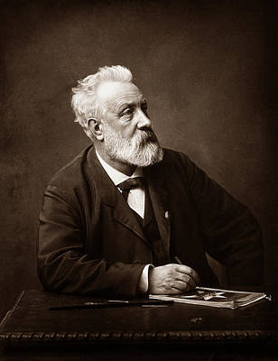 Novelist Photograph - Jules Verne - Father Of Science Fiction by War Is Hell Store