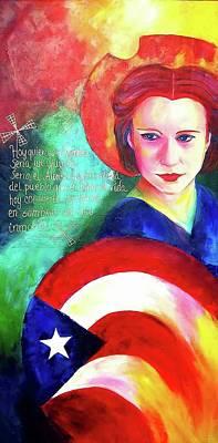 Pinturas De San Juan Painting - Julia De Burgos  by Luzdy Rivera