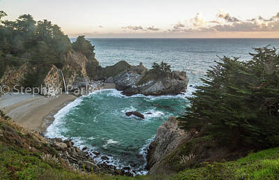 Photograph - Julia Pfeiffer Burns State Park, Big Sur  8b5358 by Stephen Parker