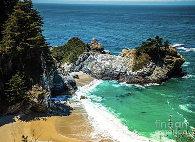 Photograph - Julia Pfeiffer Burns State Park - Mcway Falls by Blake Webster