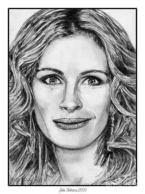 Julia Roberts In 2008 Art Print by J McCombie