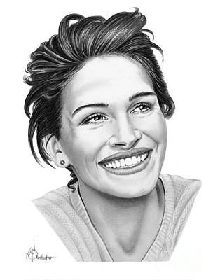 Normal Drawing - Julia Roberts by Murphy Elliott