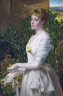 Painting - Julia Smith Caldwell by Frederick Sandys