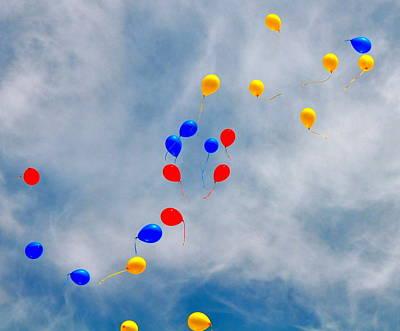 Julian Assange Balloons Art Print