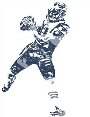 News Mixed Media - Julian Edelman New England Patriots Pixel Art 12 by Joe Hamilton