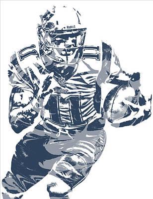 Julian Edelman New England Patriots Pixel Art 13 Art Print