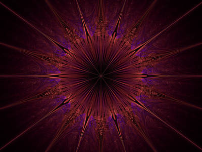 The Violet Blessings Of The Crown Chakra Art Print