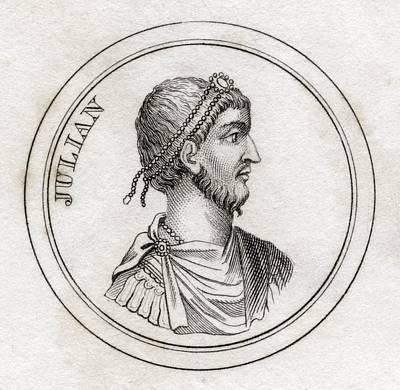 Flavius Drawing - Julian The Apostate Flavius Claudius by Vintage Design Pics