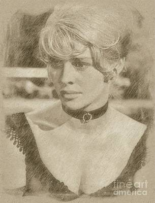 Singer Drawing - Julie Christie, Actress by Frank Falcon