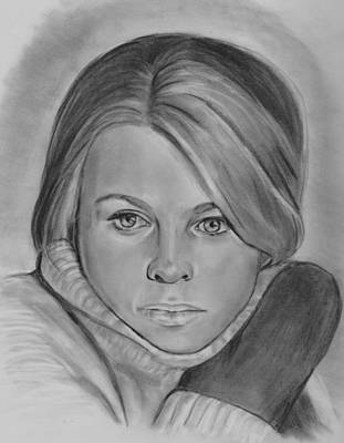 Drawing - Julie Christie As Laura by Barb Baker