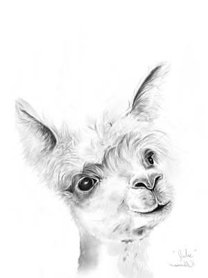 Animals Drawings - Julie by K Llamas
