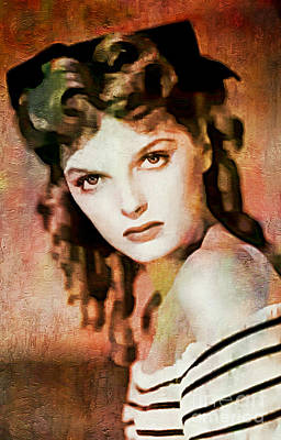 Painting - Julie London - Jazz Singer - Actress by Ian Gledhill