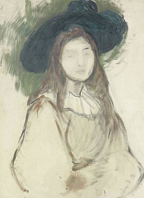 Painting - Julie Manet Au Chapeau Liberty by Berthe Morisot