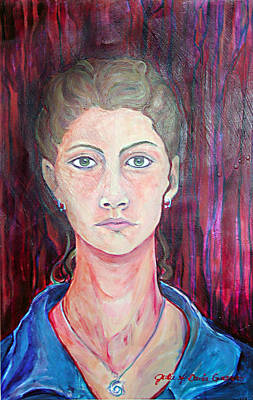 Painting - Julie Self Portrait by Julie Davis Veach