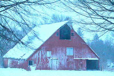 Photograph - Red Barn by Kathy M Krause