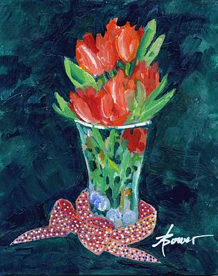 Painting - Julie's Tulips by Adele Bower