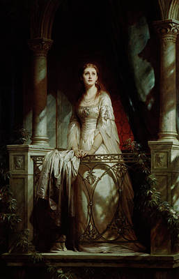 Railing Painting - Juliet, 1877 by Thomas-Francis Dicksee