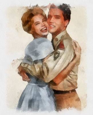 Juliet Prowse And Elvis Presley In G.i. Blues Art Print by Esoterica Art Agency
