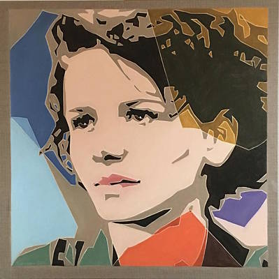Painting - Juliette Binoche by Varvara Stylidou