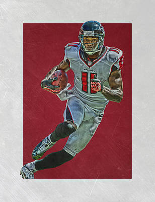 Falcon Mixed Media - Julio Jones Atlanta Falcons Art 2 by Joe Hamilton