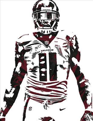 Mixed Media - Julio Jones Atlanta Falcons Pixel Art 5 by Joe Hamilton