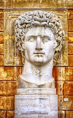 Roman Statue Photograph - Julius Caesar At Vatican Museums 2 by Stefano Senise